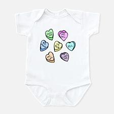 Valentine Candy Hearts Infant Bodysuit