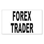Forex Trader Rectangle Sticker