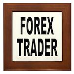 Forex Trader Framed Tile