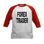 Forex Trader (Front) Kids Baseball Jersey