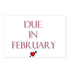 Due in February Postcards (Package of 8)