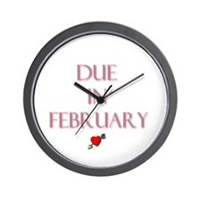Due in February Wall Clock