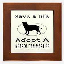Adopt A Neapolitan Mastiff Dog Framed Tile