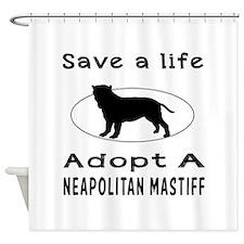 Adopt A Neapolitan Mastiff Dog Shower Curtain