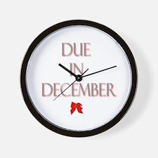 Due in December Wall Clock