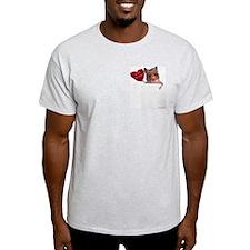 Hamster Valentine Ash Grey T-Shirt