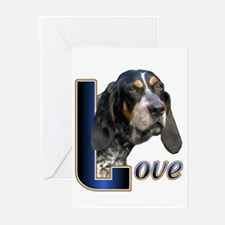 Bluetick Coonhound Love Greeting Cards (Pk of 10)