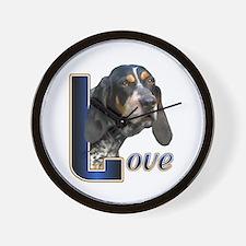 Bluetick Coonhound Love Wall Clock