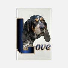Bluetick Coonhound Love Rectangle Magnet (100 pack