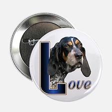 "Bluetick Coonhound Love 2.25"" Button (10 pack)"