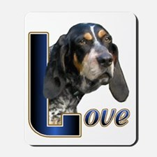 Bluetick Coonhound Love Mousepad