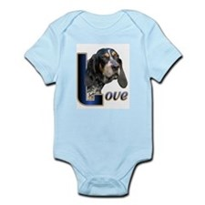 Bluetick Coonhound Love Infant Bodysuit