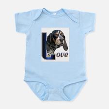 Bluetick Coonhound Love Infant Bodysuit