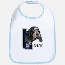 Bluetick Coonhound Love Bib