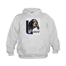 Bluetick Coonhound Love Hoodie