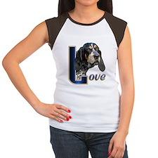 Bluetick Coonhound Love Women's Cap Sleeve T-Shirt