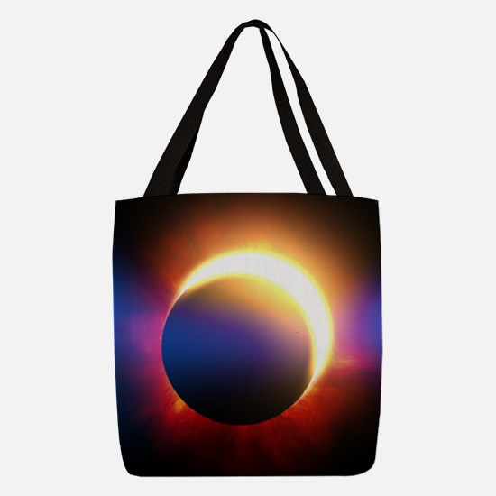 Solar Eclipse Polyester Tote Bag