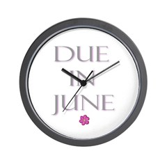 Due in June Wall Clock