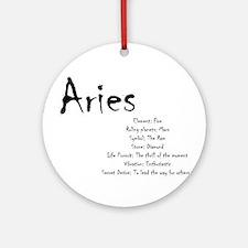 Aries Traits Round Ornament