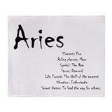 Aries Fleece Blankets