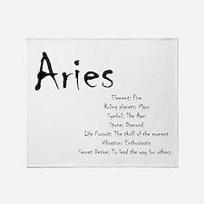 Aries Traits Throw Blanket
