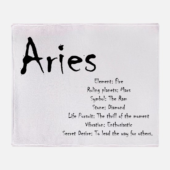 Aries Traits Throw Blanket