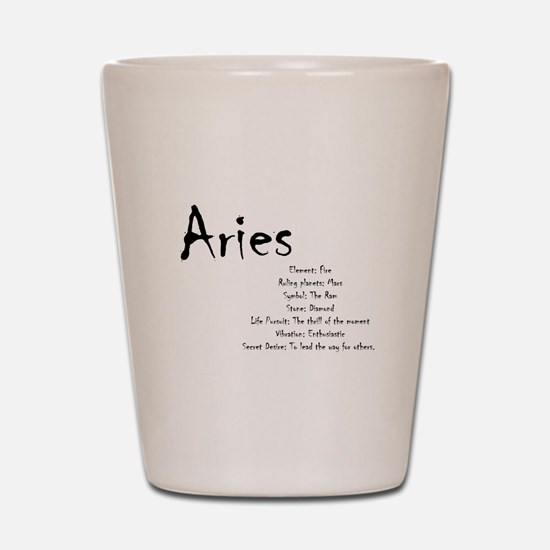 Aries Traits Shot Glass