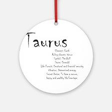 Taurus Traits Round Ornament