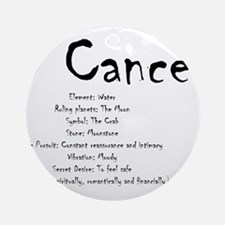 Cancer Traits Round Ornament