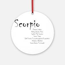 Scorpio Traits Round Ornament