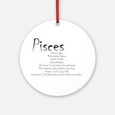Pisces Traits Round Ornament