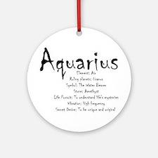 Aquarius Traits Round Ornament