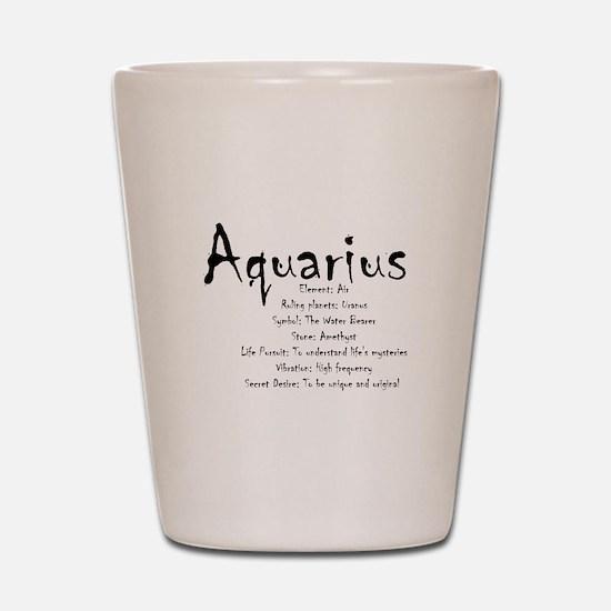 Aquarius Traits Shot Glass