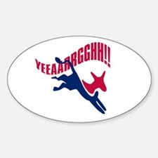 KICKING AND SCREAMING Oval Decal