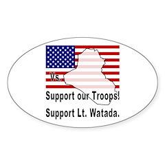 Support Lt. Watada! Oval Decal