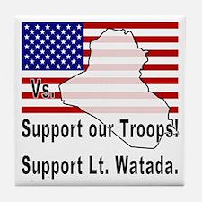 Support Lt. Watada! Tile Coaster