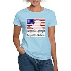 Support Lt. Watada! Women's Pink T-Shirt
