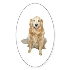 Golden Retreiver Dog Oval Decal