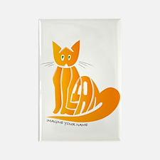 William orange cat Rectangle Magnet