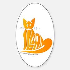 William orange cat Oval Decal