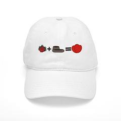 Flowers + Chocolate = Love Baseball Cap