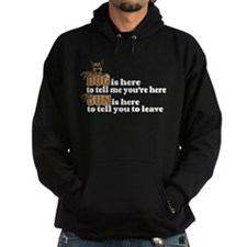 Beware of Dog/Gun (German Shepherd) Hoodie