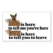 Beware of Dog/Gun (German Shep Bumper Stickers