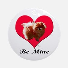 A Pomeranian Valentine Ornament (Round)