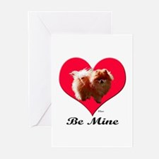 A Pomeranian Valentine Greeting Cards (Package of