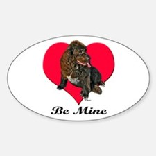 My Newfie Valentine Oval Decal