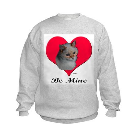 Kekoe the Cat's Valentine Kids Sweatshirt