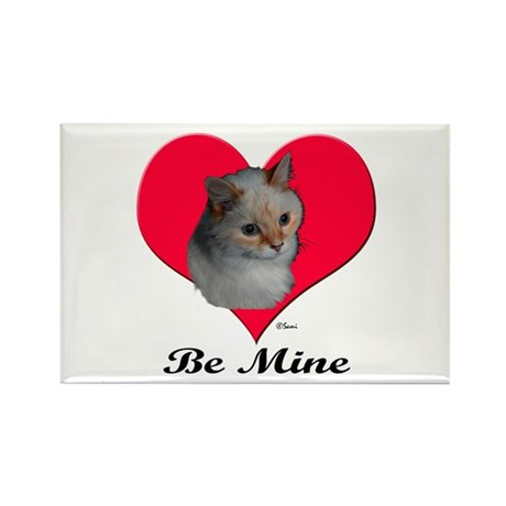 Kekoe the cat's Valentine Rectangle Magnet