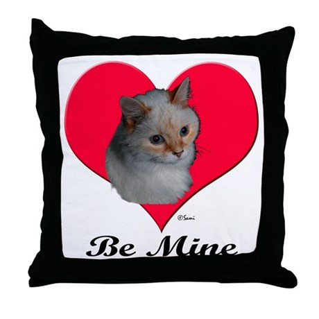 Kekoe the cat's Valentine Throw Pillow