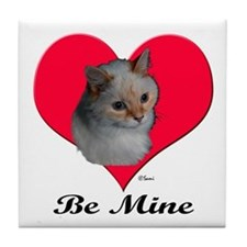 Kekoe the cat's Valentine Tile Coaster